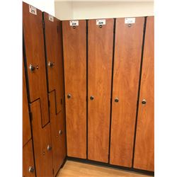 76  X 12  SINGLE DOOR AUTUMN MAPLE MULTI-LOCK LOCKER BAY
