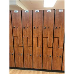 "76"" X 12"" DOUBLE DOOR AUTUMN MAPLE MULTI-LOCK LOCKER BAY"