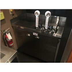 4 TAP WINE STATION WITH STAINLESS CABINET & WINE PUMPS