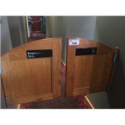 SWINGING WOOD DOORS