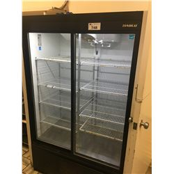 HABCO GLASS FRONT REFRIGERATOR - 73 X 48 X 31 INCH