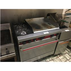 VULCAN 6 BURNER STAINLESS STEEL GAS STOVE WITH FLAT TOP