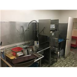 DIVERSEY STAINLESS STEEL WASH STATION WITH RINSE SINKS