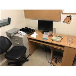 ASSORTED OFFICE FURNITURE IN KITCHEN OFFICE (SAFE NOT INCLUDED)