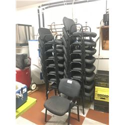 APPROX 25 FABRIC CLIENT CHAIRS