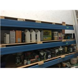 SHELF OF GROUT & PAINT THINNER