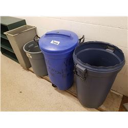 4 GARBAGE CONTAINERS