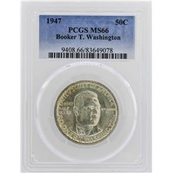 1947 Booker T Washington Centennial Commemorative Half Dollar Coin PCGS MS66