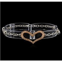 0.29 ctw Diamond Bracelet - 14KT White Gold