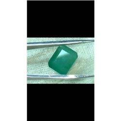Natural Forest Green Emerald 12.50 Cts - Certified