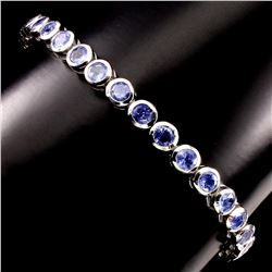 Natural Blue Violet Tanzanite 86.35 cts Bracelet