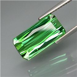 Natural Bluish Green Tourmaline 5.36 Ct