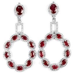 GENUINE AAA BLOOD RED RUBY Earrings