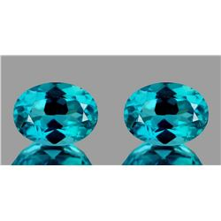 Natural Apatite Paraiba Blue Pair 7 x 5 mm - VVS