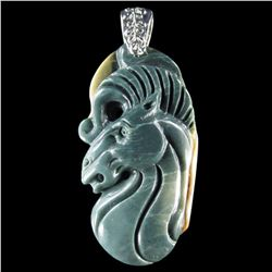 Natural Stone Hand carved Pendant
