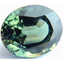 Natural Bluish Greem Sapphire 6.08 x 4.96 mm - VVS