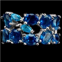 Natural AAA Paraiba Blue Apatite Ring