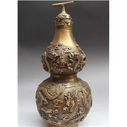 Antique Chinese Dragon Wine Tea Pot