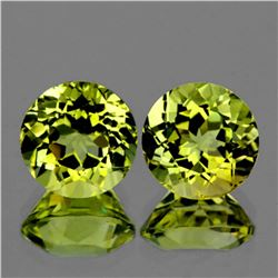 Natural Green Gold Lemon Quartz Pair 12.00 MM - VVS