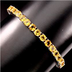 Natural Top Rich Yellow Citrine 70.70 Cts Bracelet