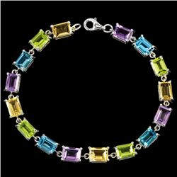 Natural Multi Color - Multi Gemstone Bracelet