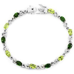 NATURAL  GREEN CHROME DIOPSIDE PERIDOT BRACELET