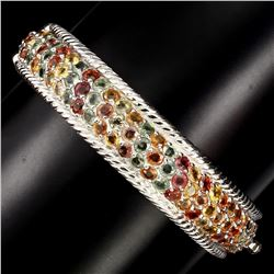 Natural Fancy Color Sapphire 158.18  Ct  Bangle