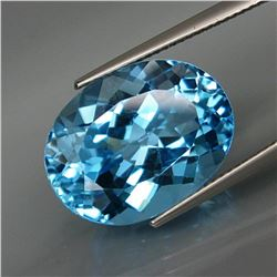 Natural Swiss Blue Topaz 17.82 Ct