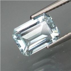 Natural Sky Blue Aquamarine Brazil 2.38 Ct