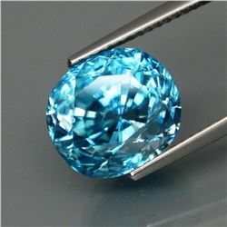 Natural Blue Cambodian Zircon 10.66 Ct