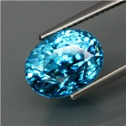 Natural BIG Blue Cambodian Zircon 9.68 Ct