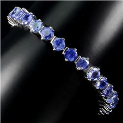 Natural Rich Blue Violet Tanzanite 89.51 Ct Bracelet