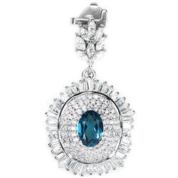 GENUINE AAA LONDON BLUE TOPAZ Pendant