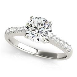 1.25 CTW Certified VS/SI Diamond Solitaire Ring 18K White Gold - REF-363K6W - 27432