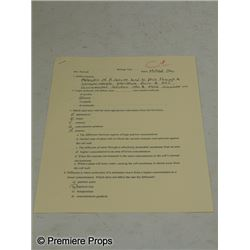 The Blind Side Michael (Quinton Aaron) Biology Test Movie Props