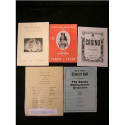 Vintage Theatrical Programs