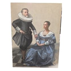 Tulip Fever Cornelis (Christoph Waltz) & Sophia (Alicia Vikander) Stage 4 Painting Movie Props