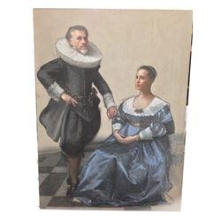 Tulip Fever Cornelis (Christoph Waltz) & Sophia (Alicia Vikander) Stage 4 Painting Movie Props