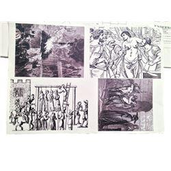 Underworld Sketches & Construction Plans Movie Memorabilia