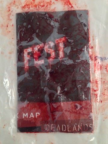 Deadlands California Map.Hell Fest 2018 Screen Used Bloody Dead Lands Map Movie Props