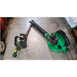 BLACK AND DECKER ELECTRIC HEDGE TRIMMER AND GAS BLOWER