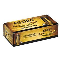 100 Rounds Cowboy Ammo: Aguila Pistol Ammunition 1E454319, 45 Long Colt, Soft Point, 200 GR, 600fps