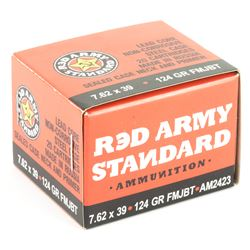 AK! 400 ROUNDS: Century Arms, Red Army Standard, 762X39, 124Gr, Full Metal Jacket ciam2423
