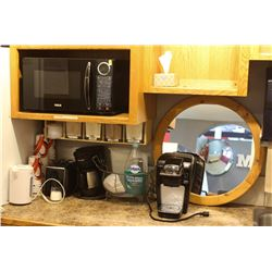 RCA MICROWAVE, KEURIG COFFEE MACHINE AND MORE