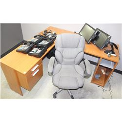 L-SHAPED OFFICE DESK AND CHAIR