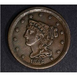 1855 HALF CENT, CH BU