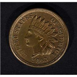 1863 INDIAN HEAD CENT, BU