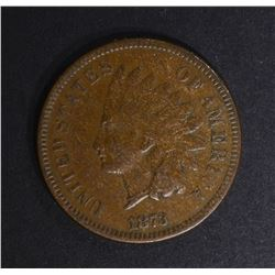 """1873 """"OPEN 3"""" INDIAN CENT, XF"""