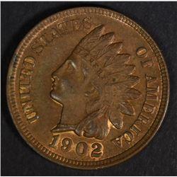 1902 INDIAN HEAD CENT, CH BU