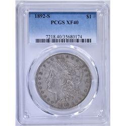 1892-S MORGAN DOLLAR, PCGS XF-40